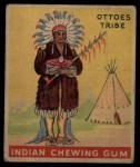 1933 Goudey Indian Gum #132   Ottoes Tribe  Front Thumbnail