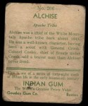 1933 Goudey Indian Gum #206  Alchise   Back Thumbnail