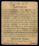 1933 Goudey Indian Gum #45  Satanta   Back Thumbnail
