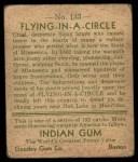1933 Goudey Indian Gum #133   Flying in Circle  Back Thumbnail