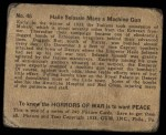 1938 Gum Inc. Horrors of War #46   Haile Selassie Mans Machine Gun Back Thumbnail
