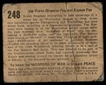 1938 Gum Inc. Horrors of War #248   Jap Flares Disperse Fog and Expose Foe Back Thumbnail
