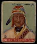 1933 Goudey Indian Gum #193  Yo-Ho-Lo-Micco   Front Thumbnail