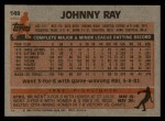 1983 Topps #149  Johnny Ray  Back Thumbnail