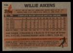 1983 Topps #136  Willie Aikens  Back Thumbnail