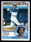 1983 Topps #136  Willie Aikens  Front Thumbnail