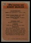 1983 Topps #783   -  Bobby Murcer Super Veteran Back Thumbnail