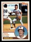 1983 Topps #579  Rich Dauer  Front Thumbnail