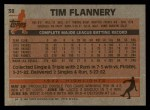 1983 Topps #38  Tim Flannery  Back Thumbnail