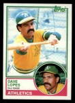 1983 Topps #365  Dave Lopes  Front Thumbnail