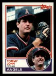 1983 Topps #735  Tommy John  Front Thumbnail