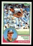 1983 Topps #127  Preston Hanna  Front Thumbnail