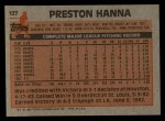 1983 Topps #127  Preston Hanna  Back Thumbnail