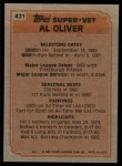 1983 Topps #421   -  Al Oliver Super Veteran Back Thumbnail