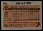1983 Topps #685  Lee Mazzilli  Back Thumbnail