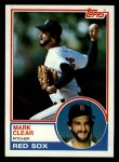 1983 Topps #162  Mark Clear  Front Thumbnail