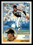 1983 Topps #92  Mike LaCoss  Front Thumbnail