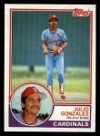 1983 Topps #74  Julio Gonzalez  Front Thumbnail