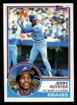 1983 Topps #26  Jerry Royster  Front Thumbnail