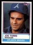 1983 Topps #126  Joe Torre  Front Thumbnail