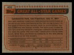 1983 Topps #400   -  Dave Concepcion All-Star Back Thumbnail