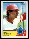 1983 Topps #400   -  Dave Concepcion All-Star Front Thumbnail
