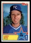 1983 Topps #395   -  Larry Gura All-Star Front Thumbnail