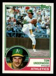 1983 Topps #466  Tom Underwood  Front Thumbnail