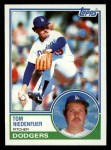 1983 Topps #477  Tom Niedenfuer  Front Thumbnail