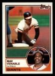 1983 Topps #634  Max Venable  Front Thumbnail