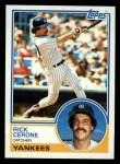 1983 Topps #254  Rick Cerone  Front Thumbnail