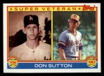 1983 Topps #146   -  Don Sutton  Super Veteran Front Thumbnail