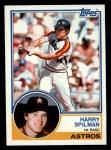 1983 Topps #193  Harry Spilman  Front Thumbnail