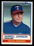 1983 Topps #37  Darrell Johnson  Front Thumbnail