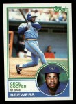 1983 Topps #190  Cecil Cooper  Front Thumbnail