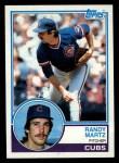 1983 Topps #22  Randy Martz  Front Thumbnail