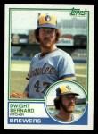 1983 Topps #244  Dwight Bernard  Front Thumbnail