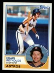1983 Topps #328  Craig Reynolds  Front Thumbnail