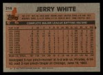 1983 Topps #214  Jerry White  Back Thumbnail