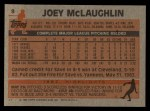 1983 Topps #9  Joey McLaughlin  Back Thumbnail