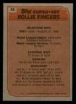 1983 Topps #36   -  Rollie Fingers Super Veteran Back Thumbnail