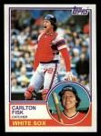 1983 Topps #20  Carlton Fisk  Front Thumbnail