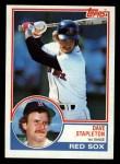 1983 Topps #239  Dave Stapleton  Front Thumbnail