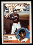 1983 Topps #309  Jeff Leonard  Front Thumbnail