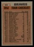 1983 Topps #502   -  Phil Niekro / Dale Murphy Braves Leaders Back Thumbnail