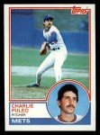 1983 Topps #549  Charlie Puleo  Front Thumbnail