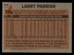 1983 Topps #776  Larry Parrish  Back Thumbnail