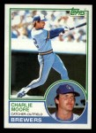 1983 Topps #659  Charlie Moore  Front Thumbnail