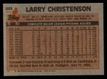 1983 Topps #668  Larry Christenson  Back Thumbnail