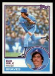 1983 Topps #104  Bob Walk  Front Thumbnail